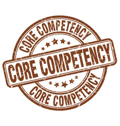 core competency brown grunge stamp vector image
