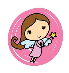 Cute angel Cartoon vector image