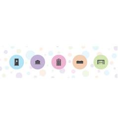 5 door icons vector