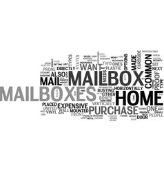 a quick guide to home mailboxes text word cloud vector image