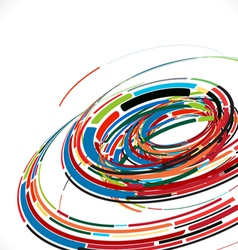 Abstract swirl line futuristic graphic template vector
