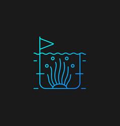 Algaculture gradient icon for dark theme vector