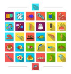 Animals accessories atelier and other web icon vector