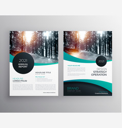 Annual report brochure flyer design leaflet cover vector