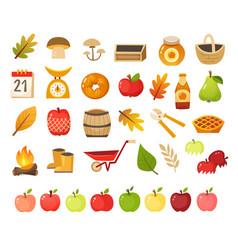 Apple farm icons vector