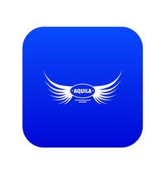Aquila wing icon blue vector