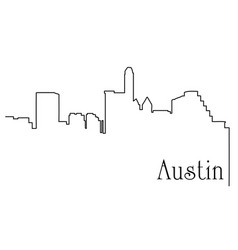 austin city one line drawing vector image