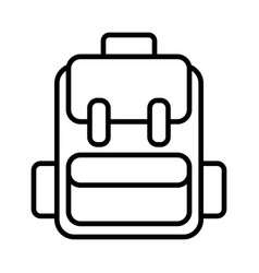 backpack line icon rucksack icon on white vector image