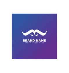 Bull face eye logo design icon element isolated vector