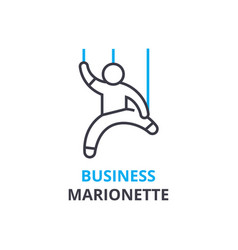 business marionette concept outline icon linear vector image