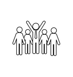 business people teamwork silhouette vector image