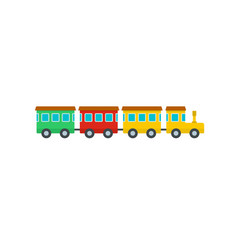 children train icon flat style vector image