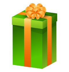 christmas gift present in box tied with ribbon vector image