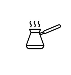 Coffee cezve line icon vector