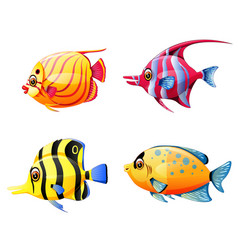 collection of the little sea fish vector image