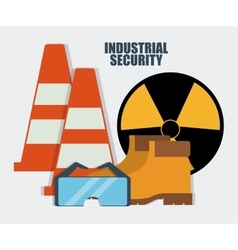 Cone boots glasses biohazard icon graphic vector