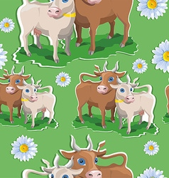 Cow pattern background vector