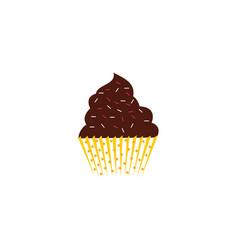 cup cake dessert logo vector image