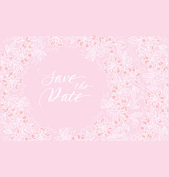 Decorative tender pastel color sakura flowers vector