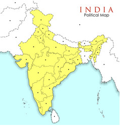 All State Maps of India Geography Vector Images (33)