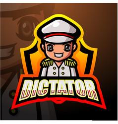 Dictator mascot esport logo design vector