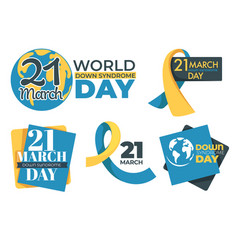 Down syndrome tolerance and support day isolated vector