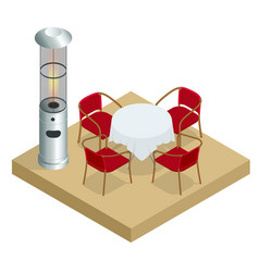Electric gas patio heater isometric best patio vector