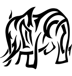 Elephant in tribal style vector