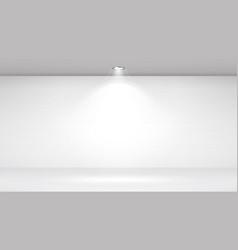 Empty white photo studio interior background vector
