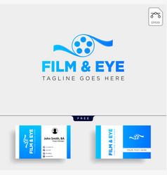 Eye cinema studio entertainment simple logo vector