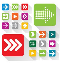 flat design arrow icon set vector image