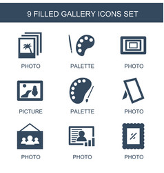 Gallery icons vector