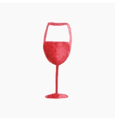Glass of red wine Hand-drawn vector image