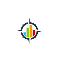graph compass logo icon design vector image