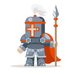 Guardian lance knight spearman fantasy medieval vector