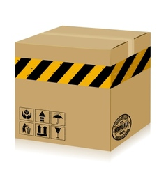 Handle With Care Box danger vector