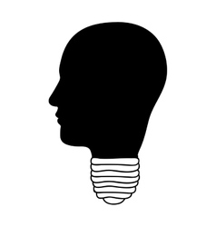 Head and lightbulb abstract wisdom icon image vector