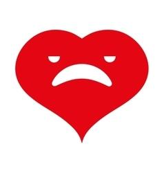 Heart cartoon love vector