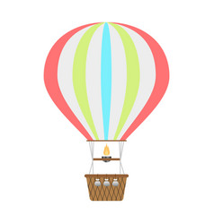 hot air balloon icon isolated background vector image