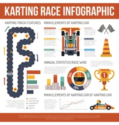 Karting Motor Race Infographics vector