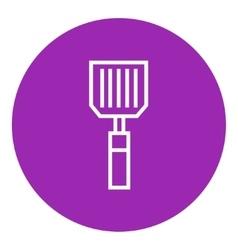 Kitchen spatula line icon vector
