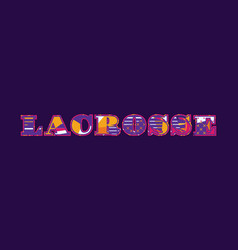 Lacrosse concept word art vector