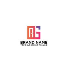 Letter rg logo design vector