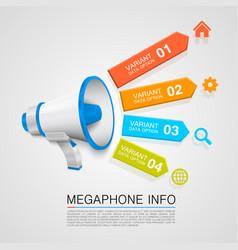 megaphone info vector image