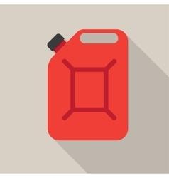Metal canister gasoline vector