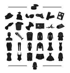 Model fashion ecology and other web icon in vector