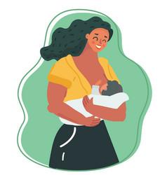 Motherhood and lactation concept vector
