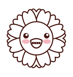 Natural flower spa kawaii character vector