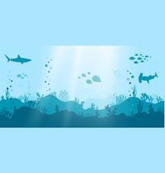 ocean seamless underwater scene vector image