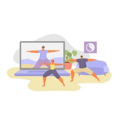 Online sport tutorial vector